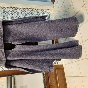 Irish Mauve tweed wool shawl or cape